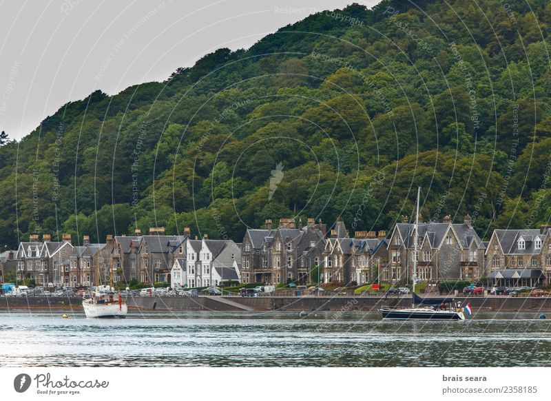 Oban town and harbour Vacation & Travel Blue Town Landscape Ocean House (Residential Structure) Beach Street Architecture Coast Sports Building Tourism