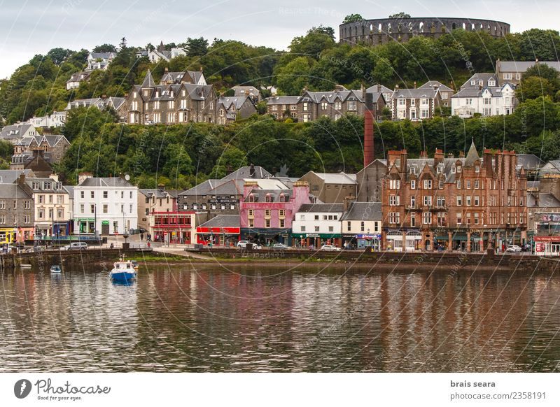 Oban harbour and town. Vacation & Travel Blue Landscape Ocean House (Residential Structure) Beach Street Architecture Coast Sports Building Tourism
