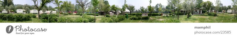 Nature Green Container Large Bus Europe House (Residential Structure) Italy Hut Panorama (Format) Caravan Camping site Lake Garda Mobile home Tennis court
