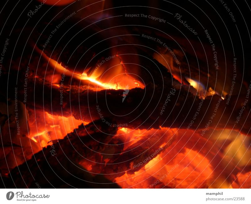 Wood Blaze Fire Burn Flame Obscure Fireplace Embers