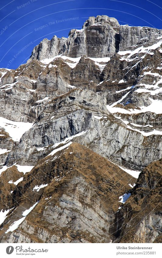 Sky Nature White Landscape Snow Mountain Gray Stone Brown Rock Tall Exceptional Alps Beautiful weather Peak Switzerland
