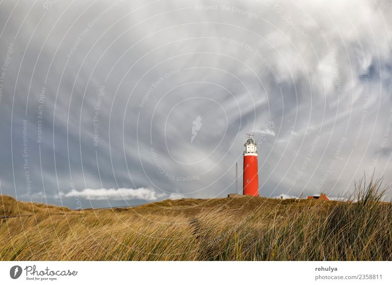 dramatic sky over ed lighthouse on hill, Texel, Netherlands Vacation & Travel Island Nature Landscape Sky Clouds Weather Beautiful weather Gale