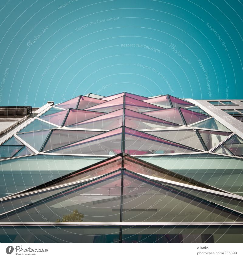 Sky House (Residential Structure) Architecture Building Exceptional Facade Metal Pink Modern Glass Crazy Tall Europe Uniqueness Beautiful weather