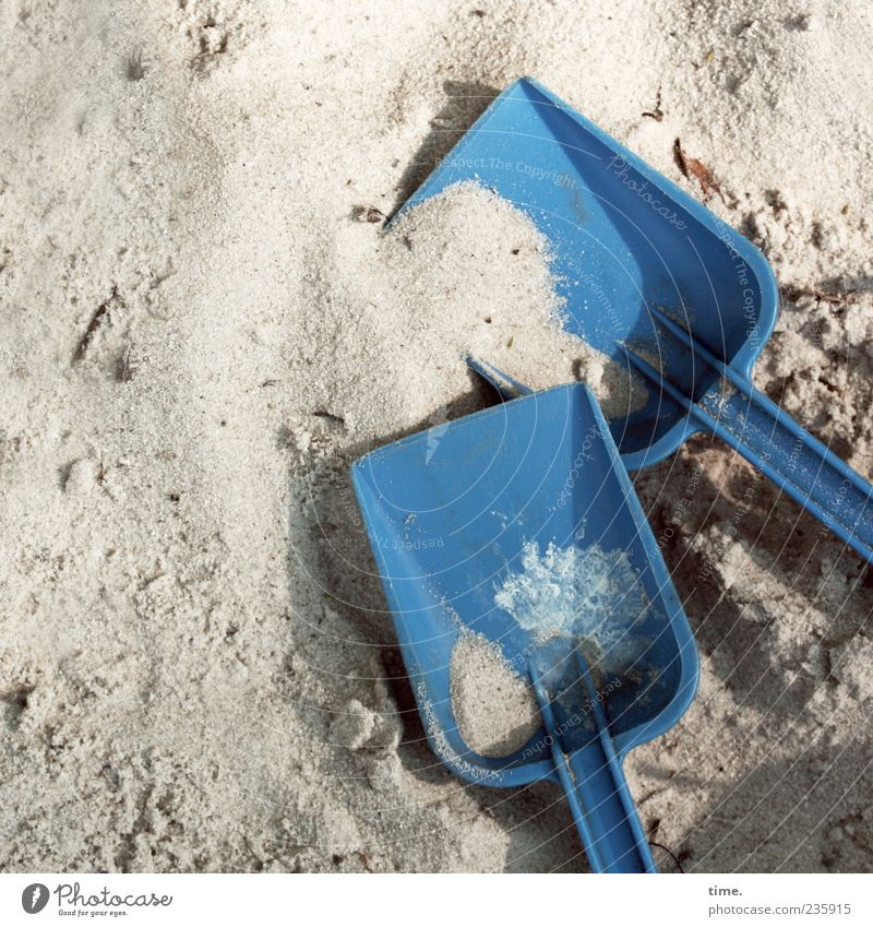 Jam bread break Playing Shovel Sand Toys Lie Sharp-edged Cute Blue Joie de vivre (Vitality) Idea Infancy Ease Joy Teamwork Sandpit Plastic Childlike
