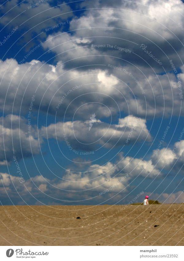 Sky Blue Beach Clouds Sand Denmark Agger Vestervig
