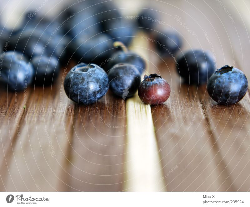 blueberries Food Fruit Fresh Small Delicious Round Sweet Blue Berries Blueberry Forest fruit Colour photo Multicoloured Close-up Copy Space bottom