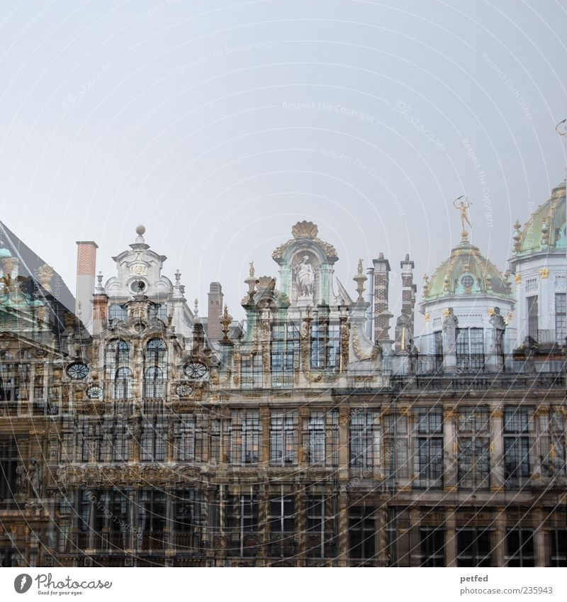 Vacation & Travel Old House (Residential Structure) Architecture Building Facade Elegant Tourism Europe Culture Historic Downtown Tourist Attraction Double exposure Capital city Sightseeing
