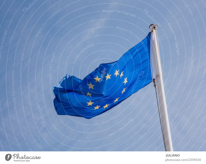 Flag of the European Union waving in the wind brexit Economy Memorable Earth Social Vacation & Travel united kingdom