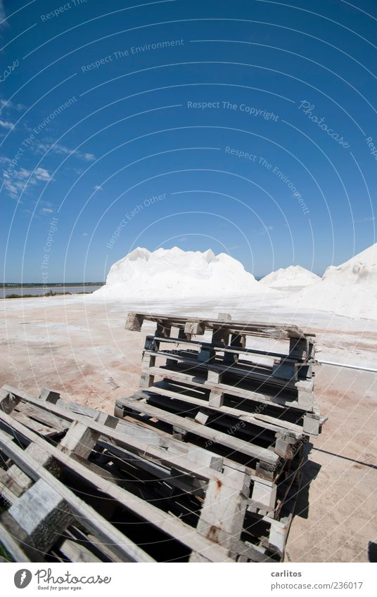 Sky Blue White Summer Mountain Warmth Wood Lie Beautiful weather Chaos Stack Dry Storage Dazzle Majorca Salt