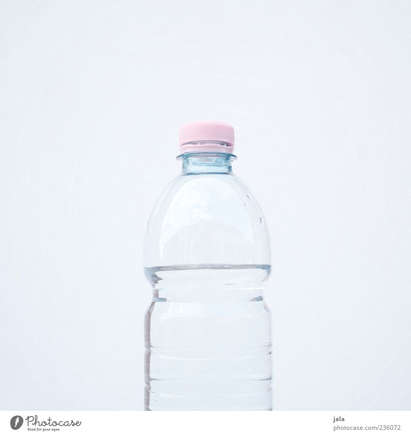 Water White Pink Drinking water Fresh Esthetic Beverage Fluid Bottle Partially visible Packaging Cap Light blue Cold drink Mineral water Nutrition