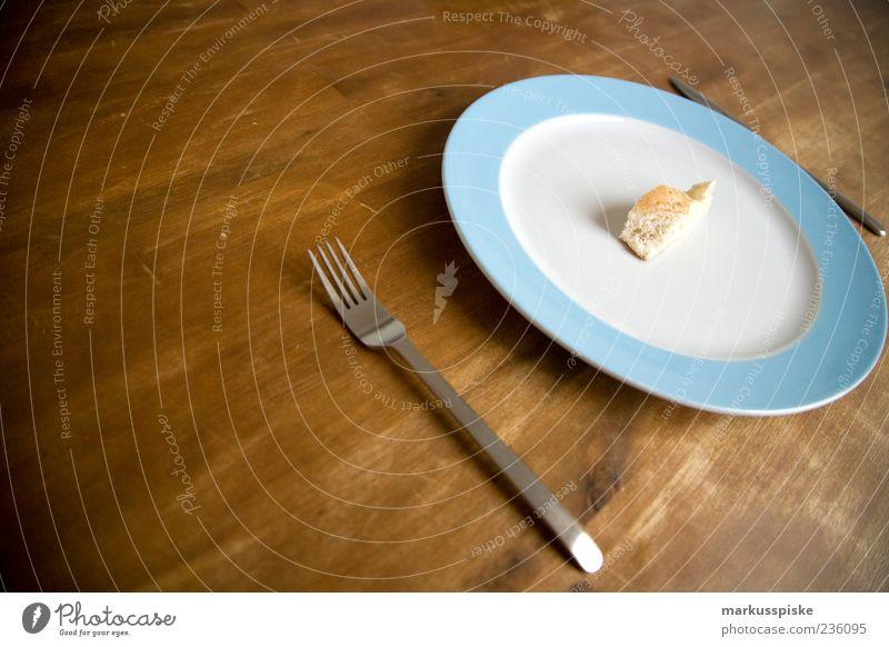 diet portion Food Bread Nutrition Vegetarian diet Diet Slow food Finger food Crockery Plate Knives Fork Life Copy Space left Appetite Remainder Deserted Dish