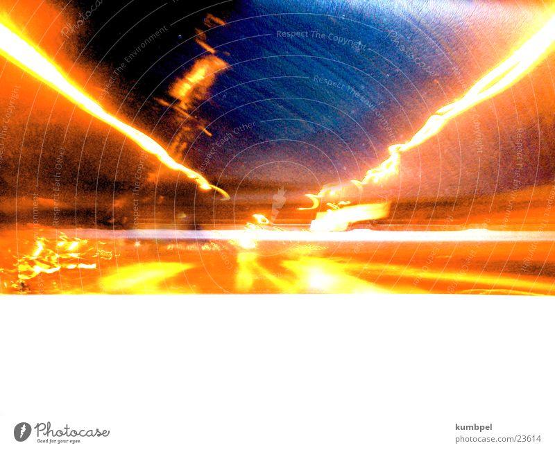 Orange Transport Lightning Tunnel London Underground Flashy Turbulence