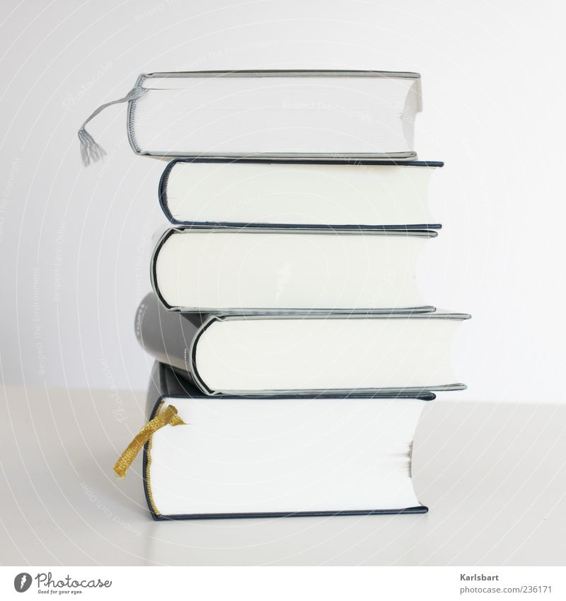 White Book Education Media Fat Stack Literature Bright background