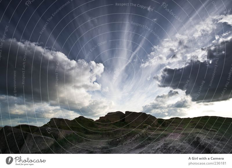 Sky Nature Clouds Far-off places Environment Landscape Dark Mountain Weather Rock Climate Exceptional Illuminate Elements Threat Hill