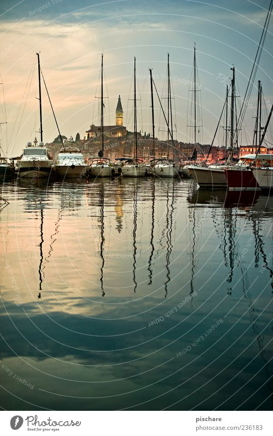 Water Beautiful Ocean Calm Coast Church Harbour Beautiful weather Village Navigation Jetty Exotic Wanderlust Mast Surface of water Croatia