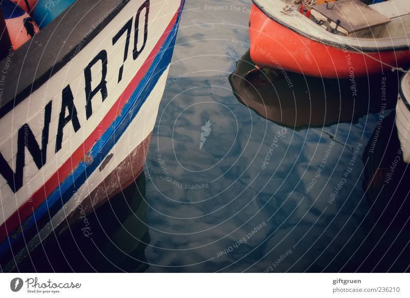chat and snack about dit un dat un jenes Navigation Fishing boat Watercraft Harbour Old Drop anchor Fishery Reflection 70 Digits and numbers Characters