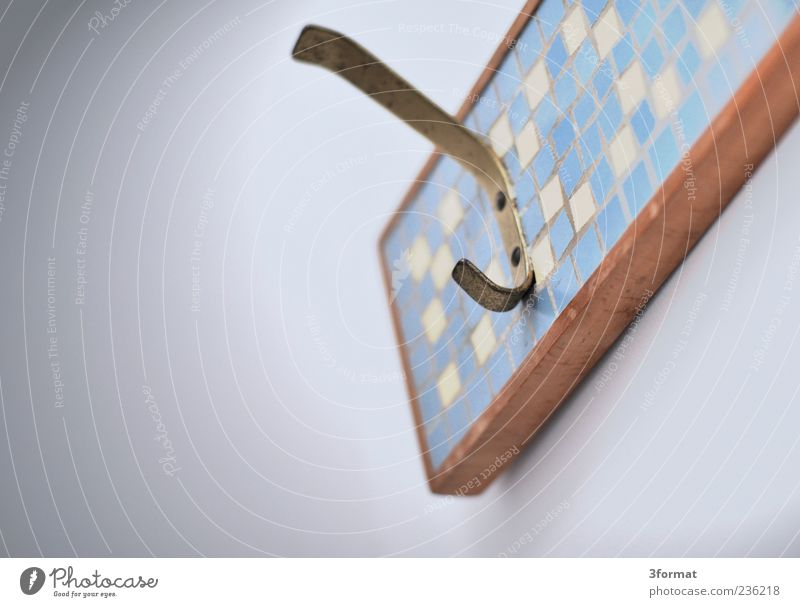 Wood Metal Gold Design Living or residing Retro Tile Furniture Nostalgia Checkered Checkmark Second-hand Perspective Brass Clothes peg