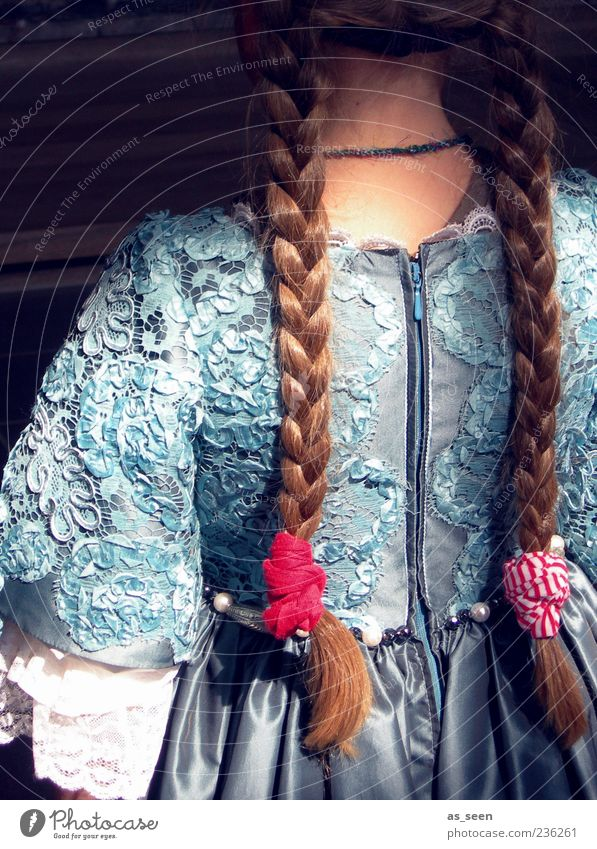 plaits Feminine Child Girl Infancy Hair and hairstyles Back 1 Human being 3 - 8 years Fashion Clothing Dress Accessory Jewellery Blonde Long-haired Braids