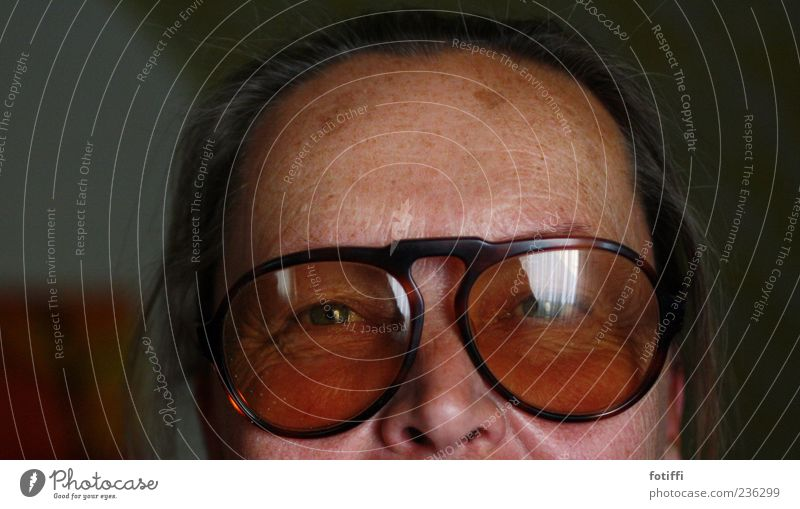 fly (me away) Human being Adults Skin Eyes Nose 1 45 - 60 years Authentic Senior citizen Eyeglasses Reflection Looking Colour photo Interior shot Close-up