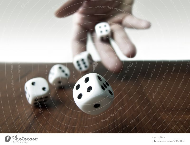 Rolling Cubes Success Loser Business Sign Throw Happy Desire Dice Playing gambling Game of chance Bet Crap game Hand Adversity Gambler Colour photo