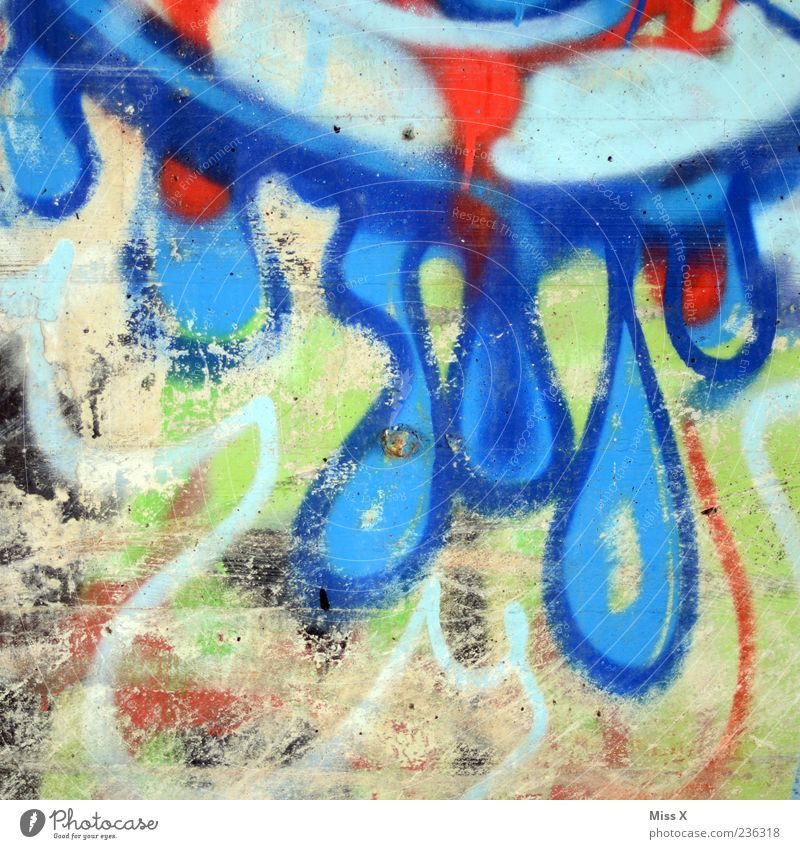 Blue Graffiti Wall (building) Wall (barrier) Drop Fluid Dripping
