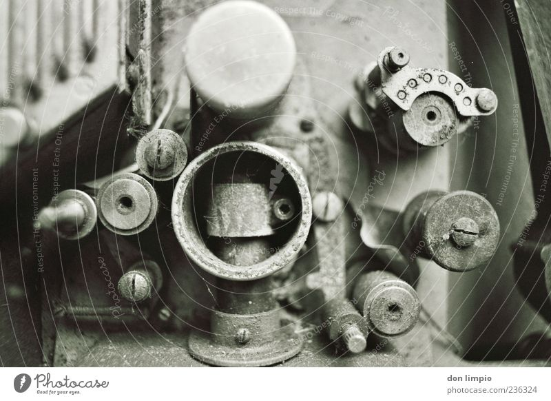 Old Metal Technology Analog Machinery Engines Part of machine Black & white photo Gear unit