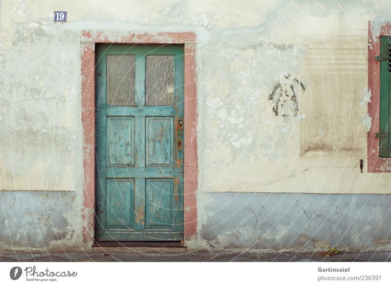 German Tuscany Deserted House (Residential Structure) Building Wall (barrier) Wall (building) Facade Window Door Old Decompose Shabby Broken 19 House number