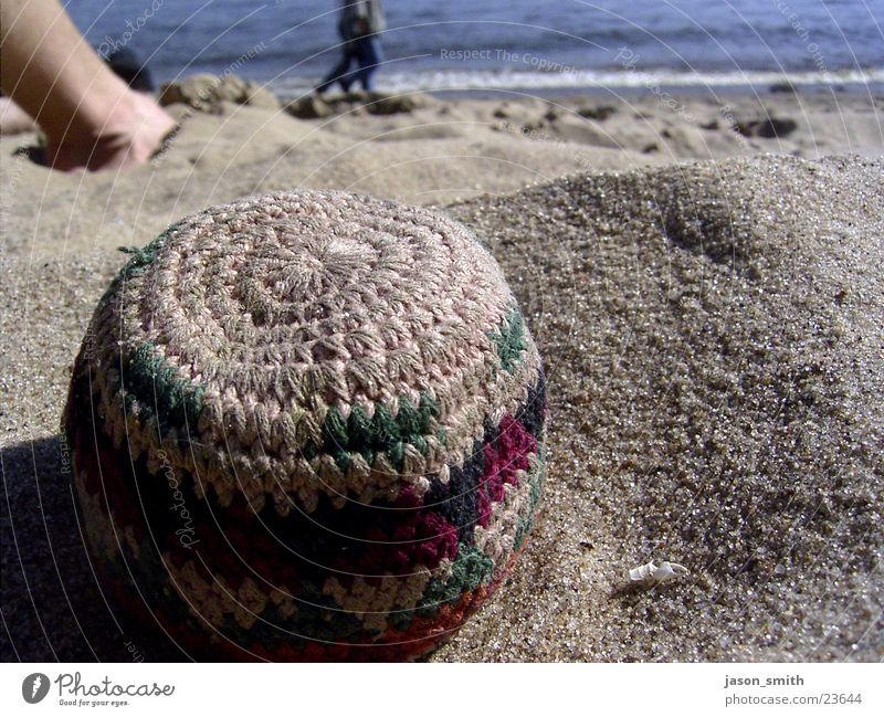 beach pearl Beach Leisure and hobbies Elbe Hacky Sack Sun Legs Macro (Extreme close-up) Water 2 persons