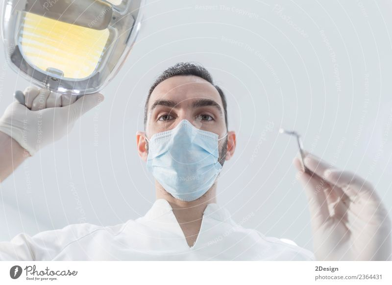 Doctor with mask and tools. Health care Medical treatment Medication Profession Tool Human being Masculine Young man Youth (Young adults) Woman Adults Hand 1