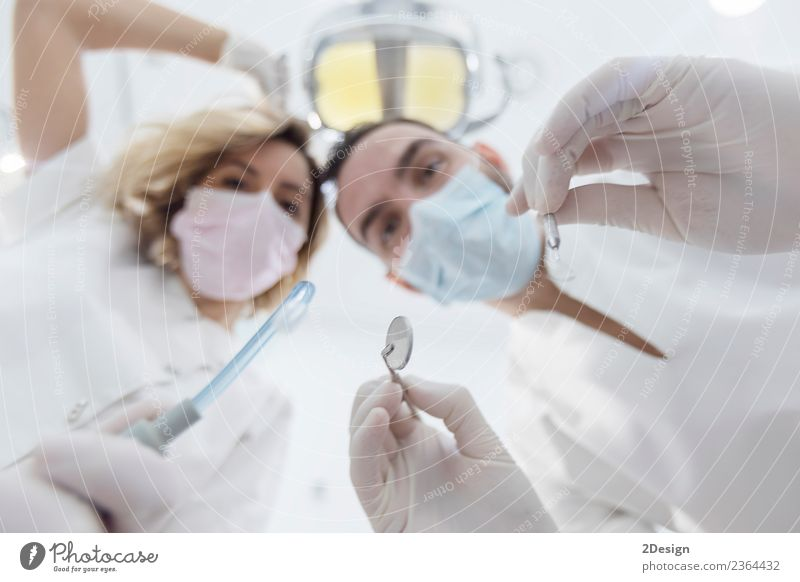 Doctors with mask and tools. Health care Medical treatment Medication Profession Tool Human being Woman Adults Hand 2 Group 30 - 45 years Gloves Above Clean