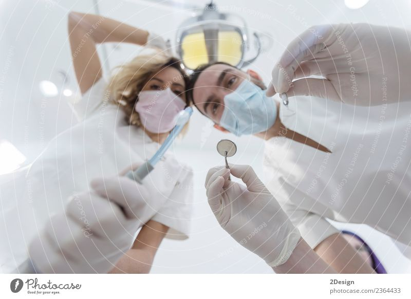 Doctors with mask and tools. Lifestyle Health care Medical treatment Medication Profession Tool Human being Young woman Youth (Young adults) Young man Woman