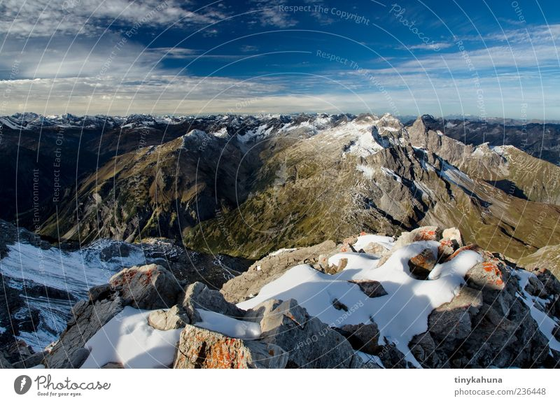 Sky Nature Blue Loneliness Far-off places Relaxation Landscape Snow Autumn Mountain Above Freedom Stone Dream Horizon Rock