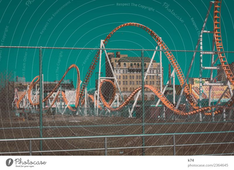 NYC - Luna Park Coney Island - Roller Coaster 2 New York City USA Capital city Outskirts Deserted House (Residential Structure) Roller coaster Driving Esthetic