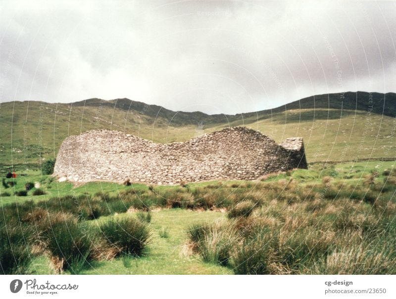 Ringfort in Ireland Green Manmade structures Europe ring fort green countryside Green Island historic building
