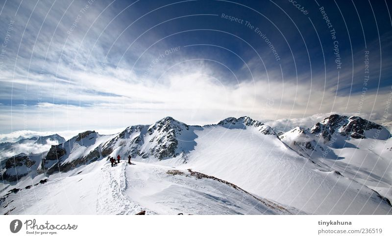 Sky Nature Blue White Winter Clouds Landscape Cold Snow Mountain Group Ice Esthetic Frost Alps Beautiful weather