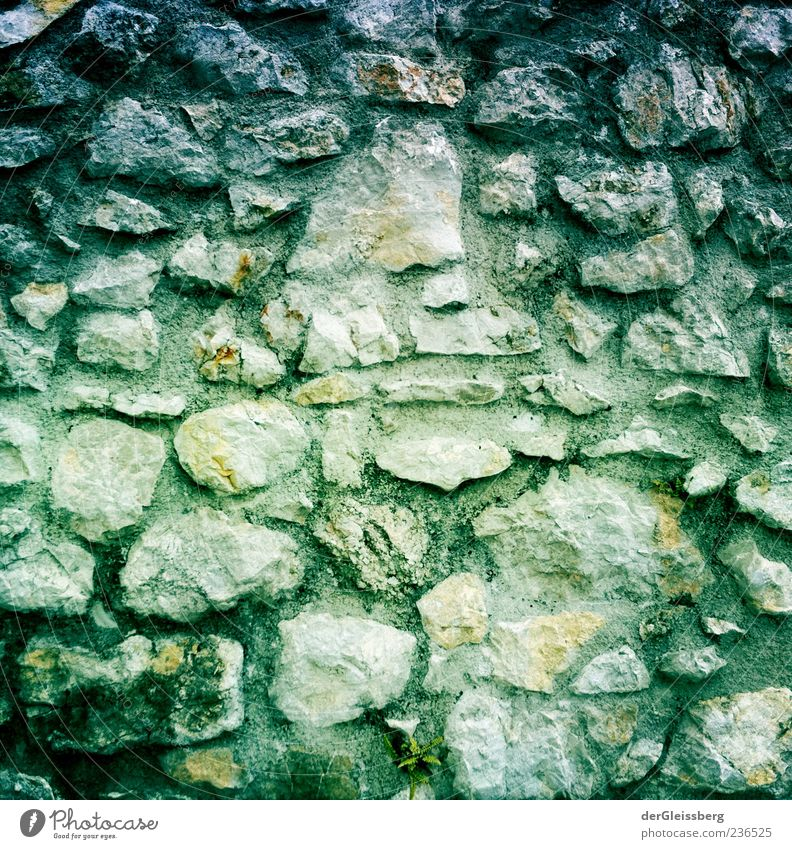 Old Green Gray Stone Manmade structures Sharp-edged Stone wall
