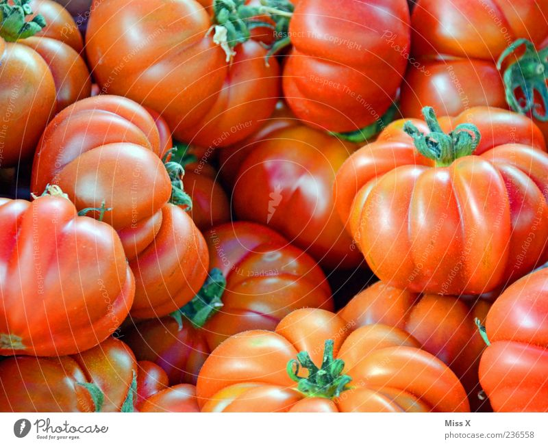 tomatoes Food Vegetable Nutrition Organic produce Vegetarian diet Fresh Delicious Juicy Red Tomato beef tomato Farmer's market Vegetable market