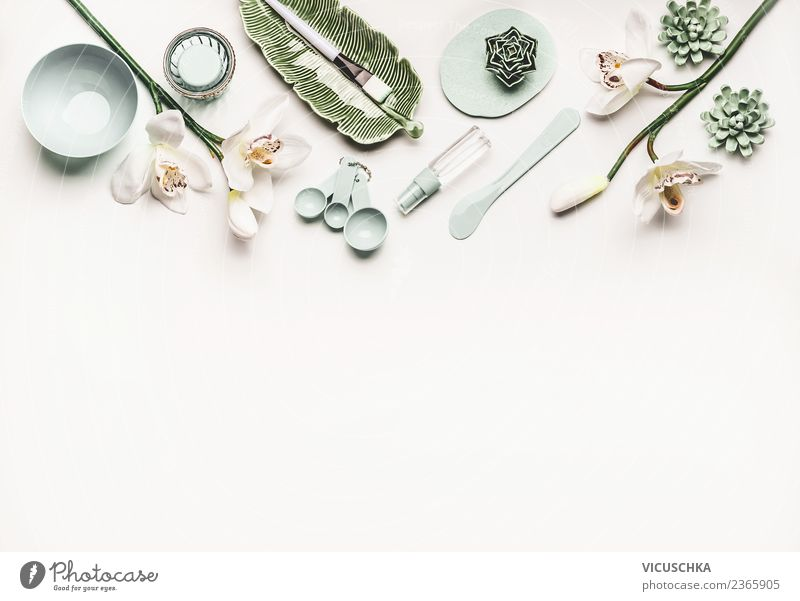 Modern Cosmetic Skin Care Accessories A Royalty Free Stock Photo From Photocase