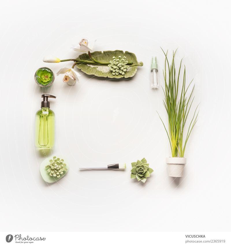 Nature Plant Beautiful Green Face Healthy Background picture Style Design Shopping Wellness Beauty Photography Hip & trendy Personal hygiene Cosmetics Frame