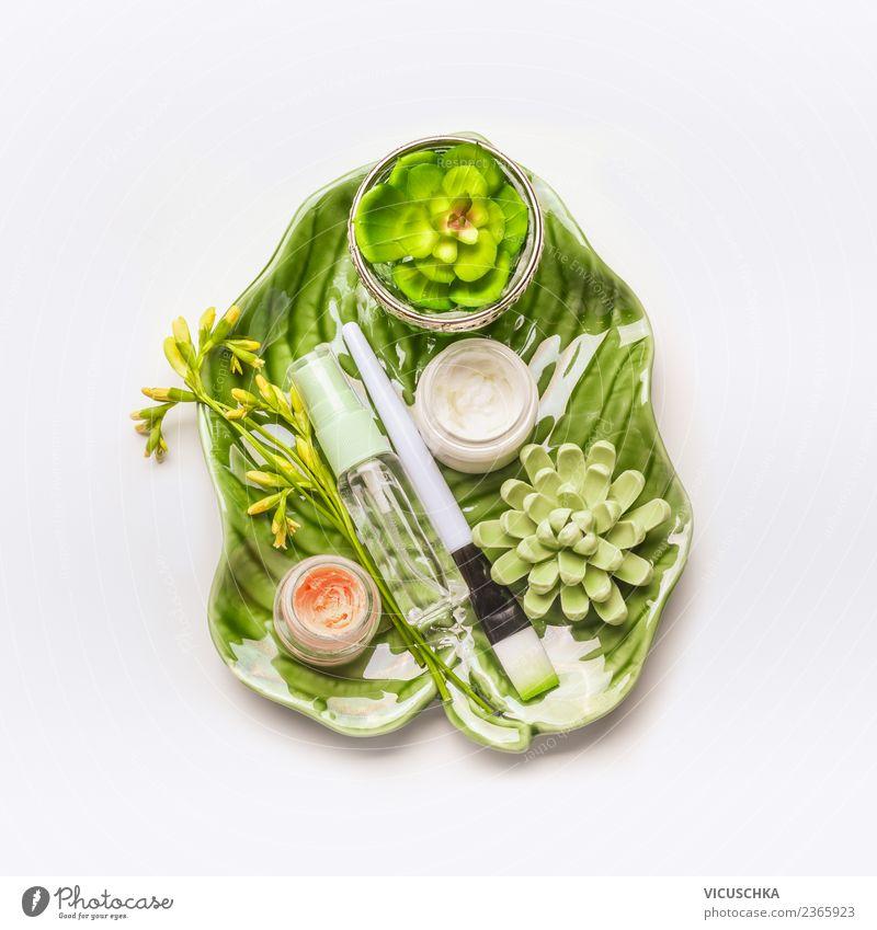 Nature Plant Beautiful Green Flower Face Life Healthy Health care Style Design Wellness Desk Cosmetics Cream Spa