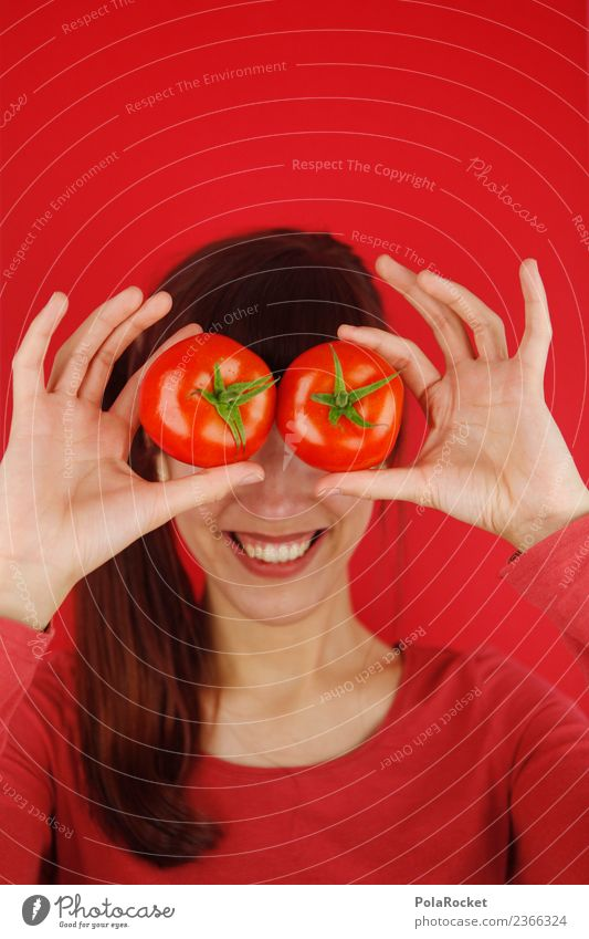 #A# Tomatoes on your eyes Work of art Esthetic Kitsch Tomato juice Tomato soup Eyes Proverb Symbols and metaphors Hand To hold on mask sb./sth. Joy Comical