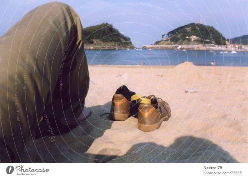 beach shoes Beach Footwear Ocean Human being Legs