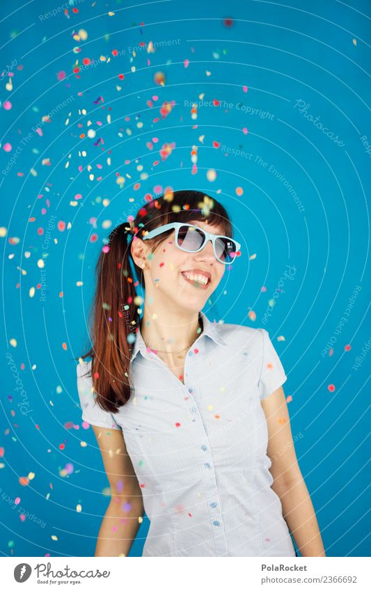 #A# Confetti rain Art Esthetic Joy Comical Funster The fun-loving society Party Party goer Party mood Party guest Party service Party night Surprise Blue Blouse