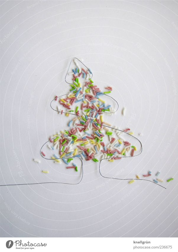 First! Food Candy Coulored sugar candy Christmas tree Wire Exceptional Multicoloured White Emotions Joy Happiness Design Colour Creativity Christmas & Advent