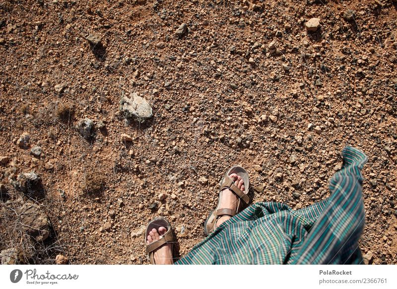 #A# strange Phase Art Esthetic Floor covering Hiking Exotic Wanderlust Walking Africa Sparse Warmth Wind Feet Perspective Colour photo Subdued colour