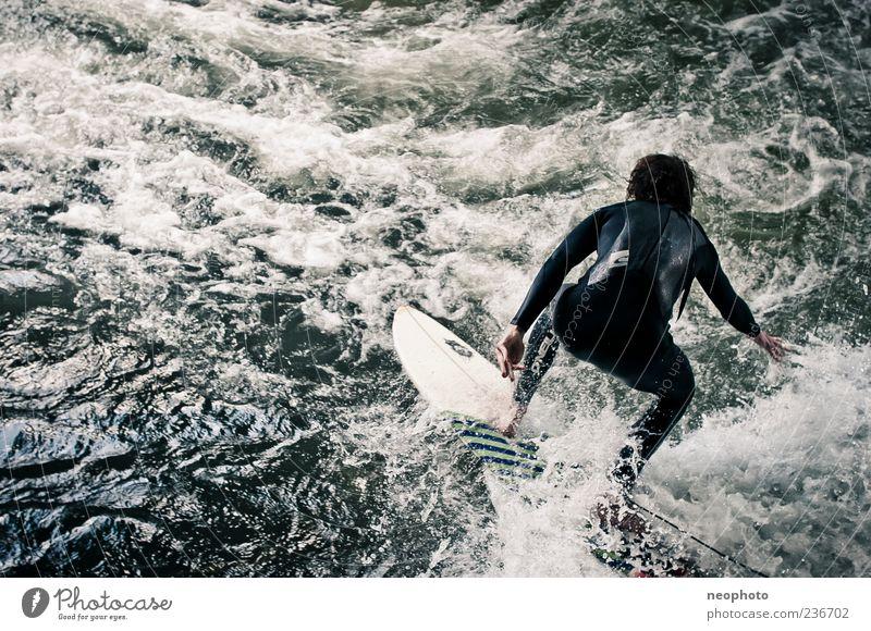 Blue Water Green Sports Wild Exceptional Dangerous River Munich Surfing Surfer The Englischer Garten Surfboard Bavaria Eisbach