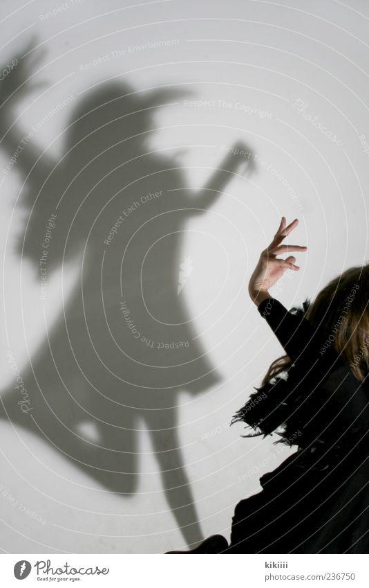 Hand White Girl Black Jump Bird Dance Flying Arm Mysterious Mask Creepy Hover Ghosts & Spectres  Beak Carnival costume