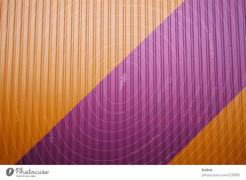 Corrugated iron times multicolored Corrugated sheet iron Violet Purple Pink Wall (building) Architecture Warehouse Orange structure