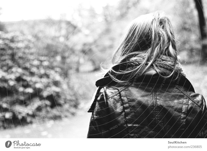 Human being Youth (Young adults) Loneliness Adults Emotions Young woman 18 - 30 years Long-haired Leather jacket