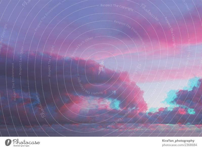 Abstract watercolor ultraviolet clouds Beautiful Summer Sun Ocean Wallpaper Nature Landscape Sky Clouds Horizon Dream Blue Pink Red Colour glitch Effect Purple